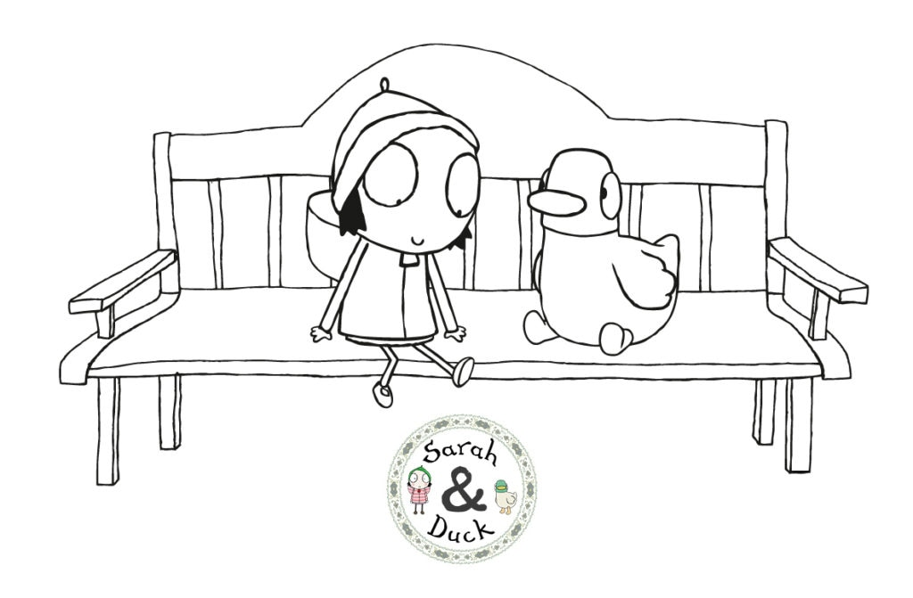 sarah and duck coloring pages Make – Sarah and Duck sarah and duck coloring pages