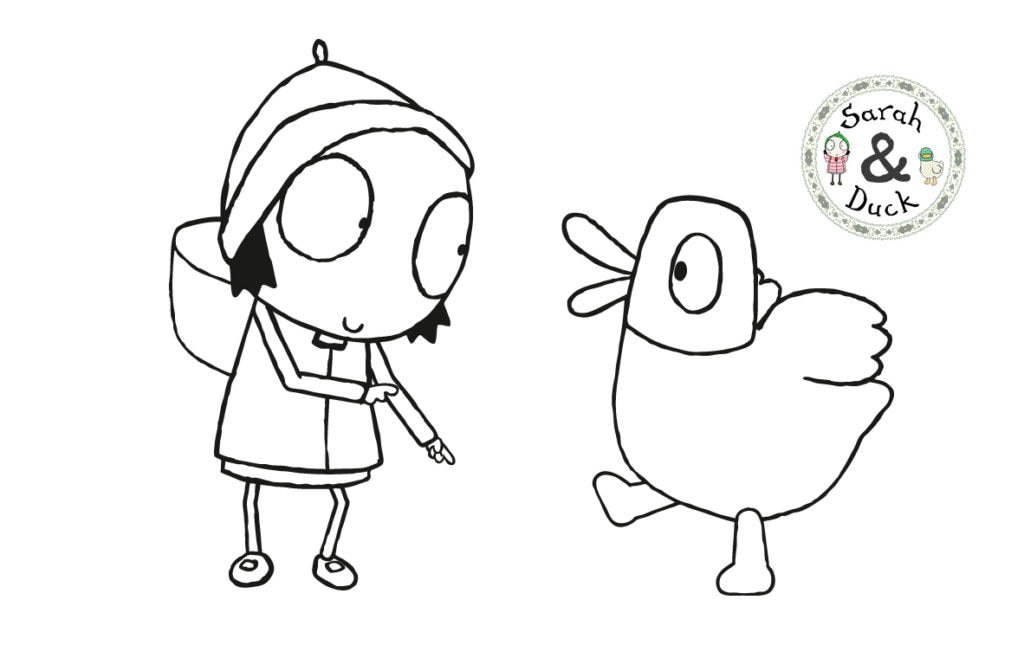 sarah and duck coloring pages - photo#5