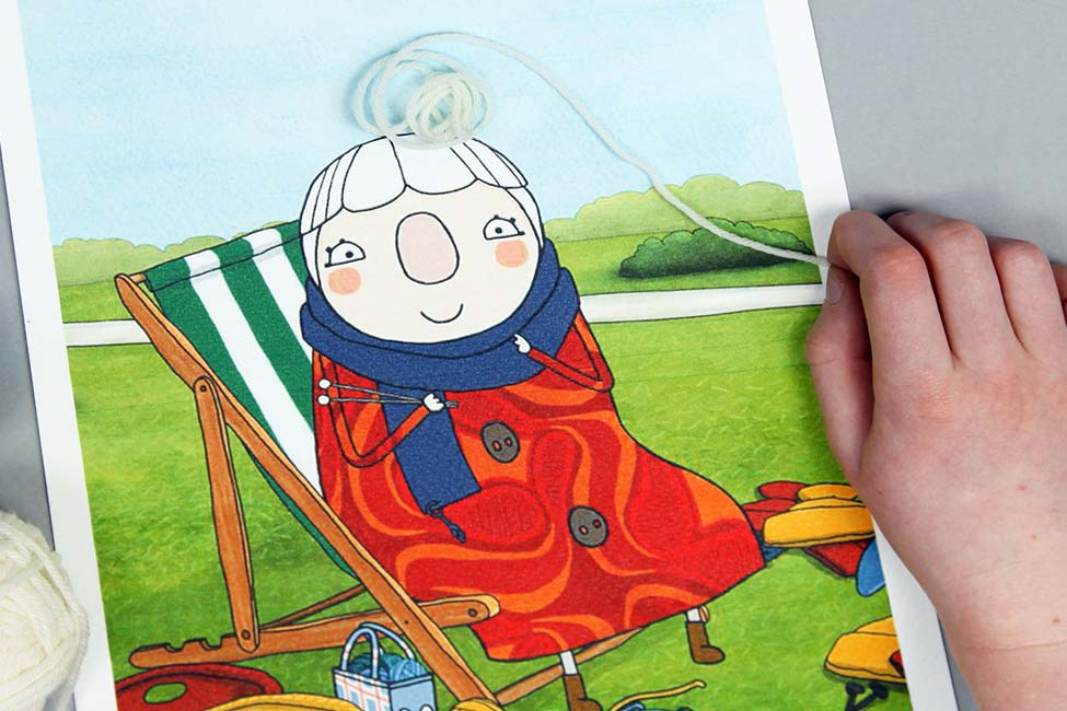 Sarah & Duck Scarf Lady's Hair Picture