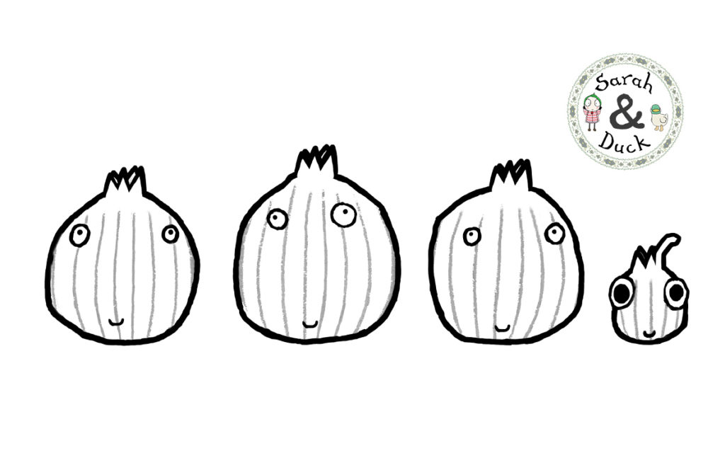 Sarah and Duck Shallots Colouring Sheet